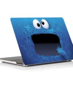 Fluffy Blue Cartoon Face Laptop Skin