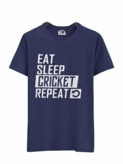 T Shirt - Eat Sleep Cricket Repeat