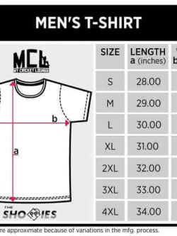 Size Chart for Cricket Shirts - The Shoppies