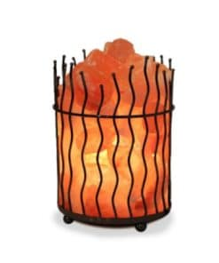 Iron Basket Salt Lamp - Salt Chunks