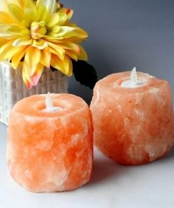 Salt Candle Holder – Natural