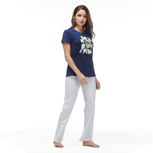 Women Nightwear Set - Trousers & T-Shirt - 3