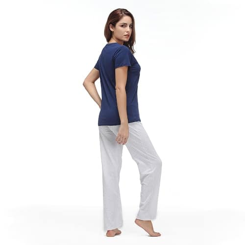 Women Nightwear Set - Trousers & T-Shirt - 4