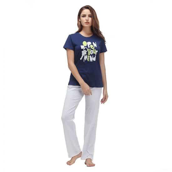 Women Nightwear Set - Trousers & T-Shirt