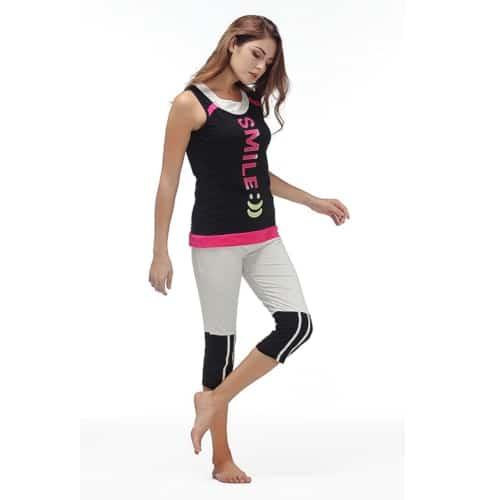 Womens Pajama Set - Sleeveless Sleepwear - 2