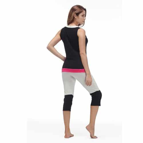 Womens Pajama Set - Sleeveless Sleepwear - 4