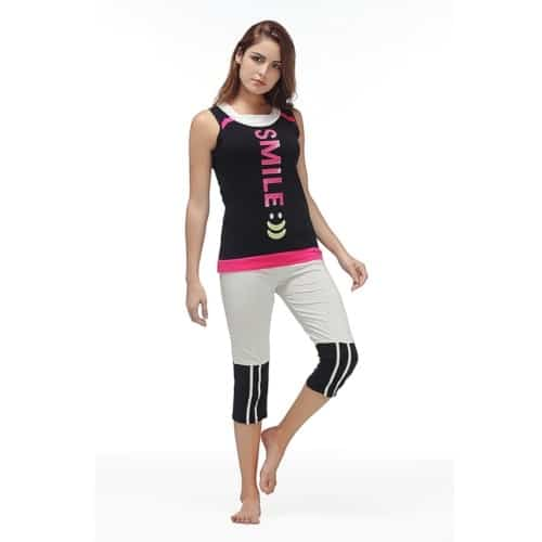 Womens Pajama Set - Sleeveless Sleepwear