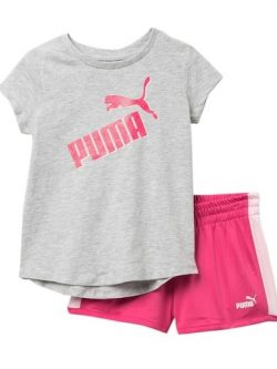 Girls Shorts & T-Shirt - Puma