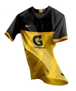 Sports Shirt Gatorade - Yellow Black Jersey
