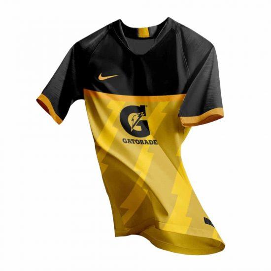 Sports Shirt Gatorade - Yellow Black Jersey