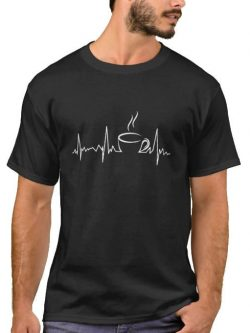 Heartbeat Tea T-shirt - Life line - Black