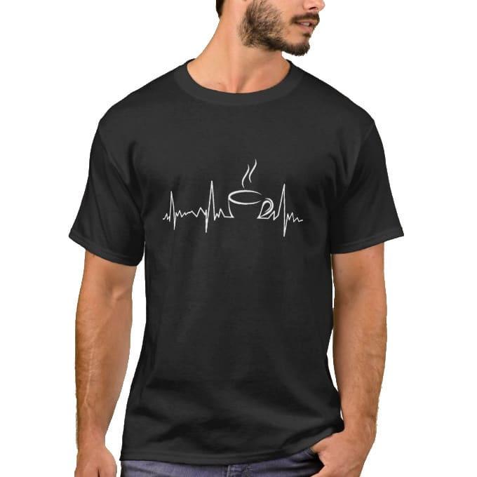 Heartbeat Tea T-shirt - Life line - Black