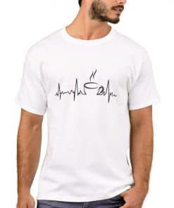 Heartbeat - Tea T-shirt - Life line - white