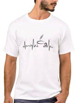 Heartbeat - Tea T-shirt - Life line - white