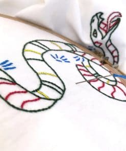 Dragon Embroidery T-shirt Closeup