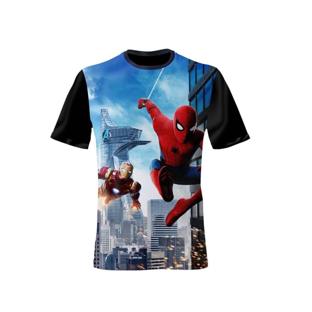 Spider Man - Iron Man - Kids Shirt