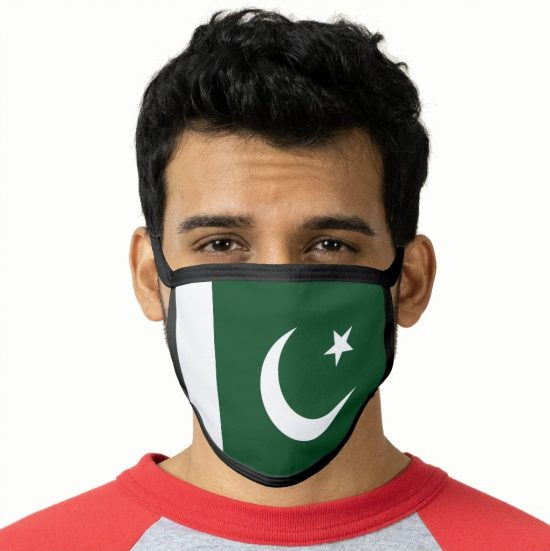 Pakistan Flag Face Mask wearing on face